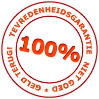 100% tevredenheidsgarantie - niet goed geld terug